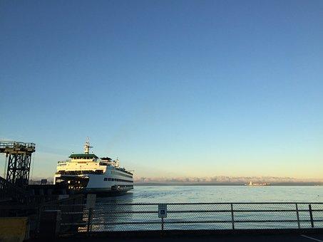 Ferry, Washington, Puget Sound, Seattle, Water, Boat