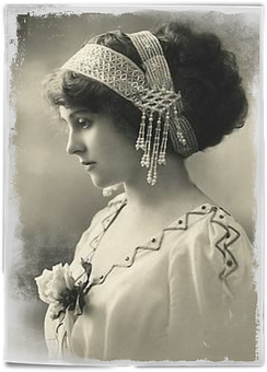 Vintage, Woman, Art, Collage, Hair, Pearls, Headband