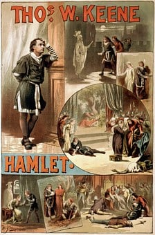 William Shakespeare, Hamlet, Poster, 1884