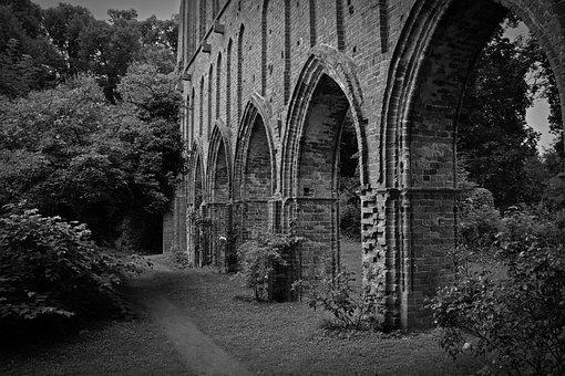 Gloomy, Ruin, Decay, Monastery, Klosterruine Hude