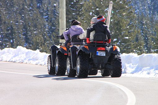 Atv, Cold, Off Road, Road, Snow, Terrain, Vehicle