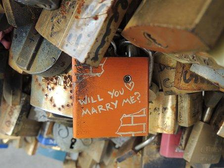 Lock Bridge, Paris, Love, Bridge, Marriage, Propose