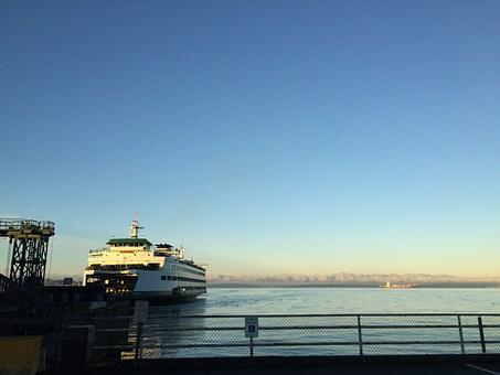 Ferry, Washington, Puget Sound, Seattle, Water, Boat