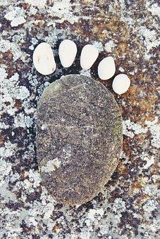 Stone, Stonefoot, Foot, Reprint, Footprint, Cold, Ten