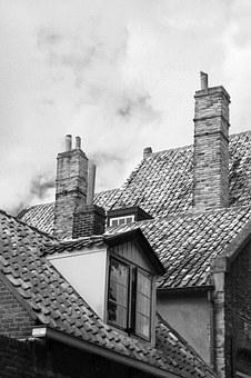 Roofs, Chimney, Homes, Roofing, Architecture, Brick