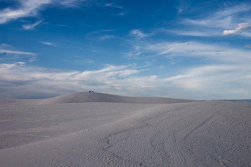 Desert, Sky, Sand, Nature, Landscape, Travel, Blue, Dry