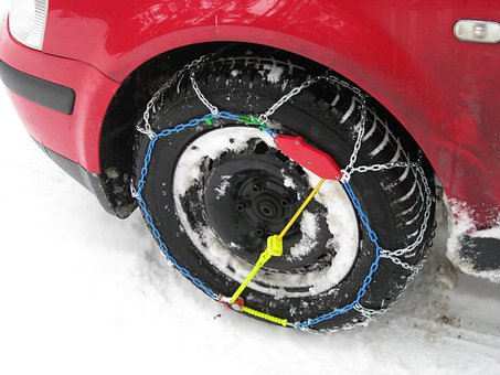Snow Chains, Mature, Profile, Winter Tires, Tyres, Auto