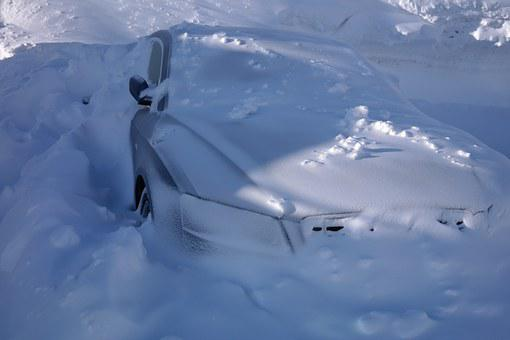 Auto, Snowed In, Winter, Snow, Snowy, Cold, Frosty