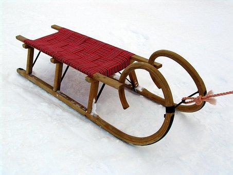 Slide, Snow, Winter, Fun, Sleigh Ride, Winter Sports