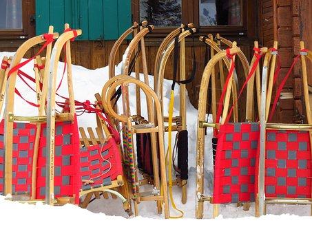 Slide, Hut, Snow, Fun, Toboggan, Ski Lodge, Tobogganing