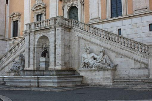 Statue, Expression, Marble, Stairs, Stone