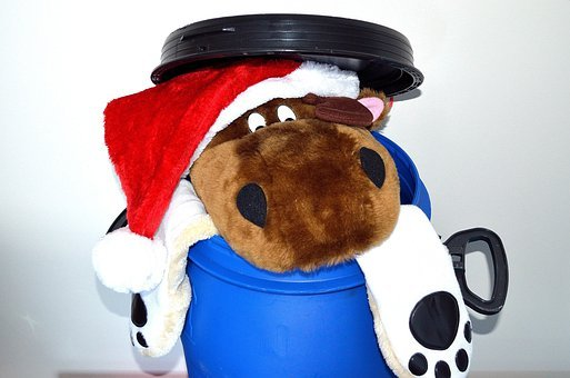 Christmas, After, End, Start, Decoration, Toy, Hats