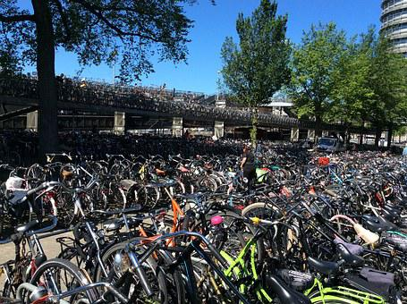 Bicycles, Bike Park Place, Bicycle Garage, Holland