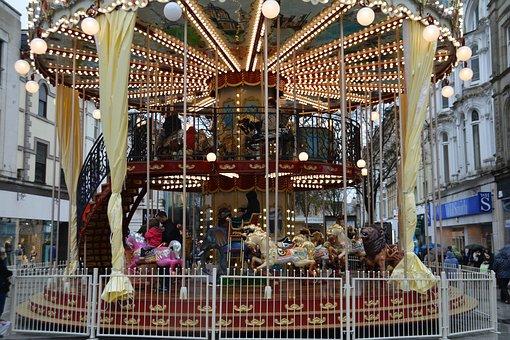 Merry Go Round, Fair, Fun, Merry-go-round, Carousel