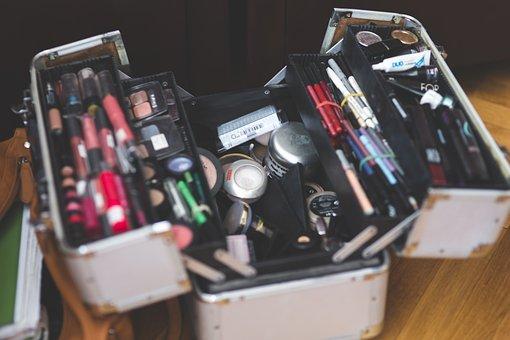 Case, Makeup, Make Up, Make-up, Professional, Opened