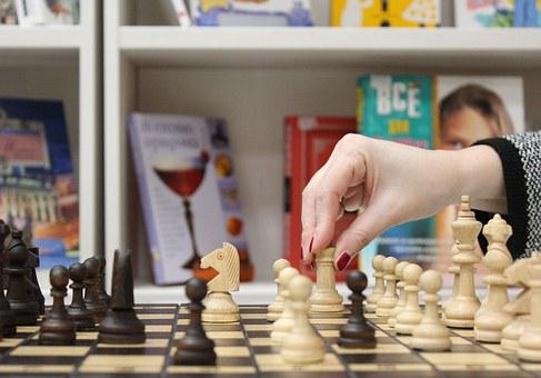 Chess, Hand, Figures, Palm, Pawn, Championship, Cage