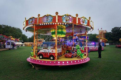 Fairground, Fair, Ride, Children, Kids, Carnival