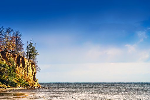 Seashore, Cliff, Sea, Rock, Coast, Water, Nature