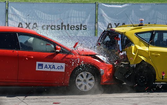 Crash Test, Collision, 60 Km H, Distraction, Liability
