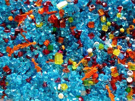 Lego Blocks, Colorful, Plastic, Blue, Assemble, Toys