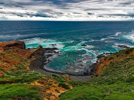 Cape Schanck, Australia, Cove, Sea, Ocean, Waves