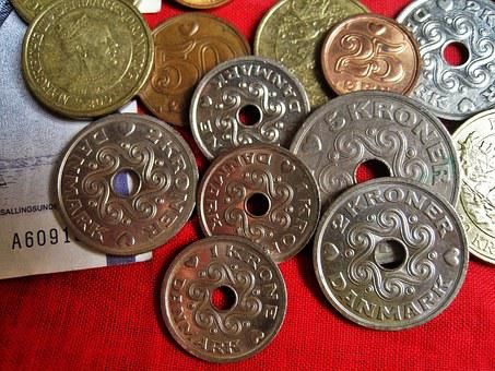 Danish Coins, Danish Kroner, Danish Currency, Danish