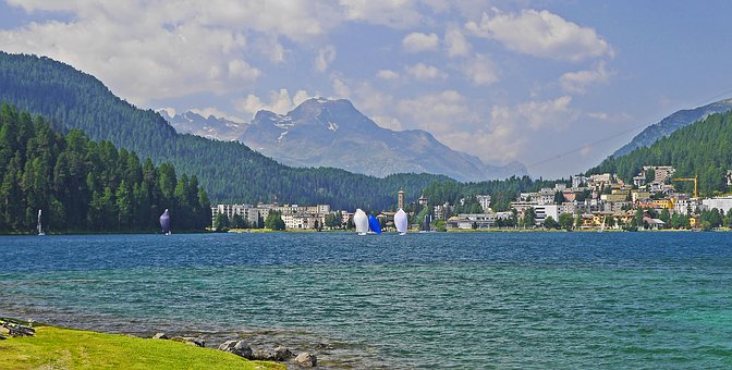 Lake St Moritz, Engadin, High Valley, Rhätikon