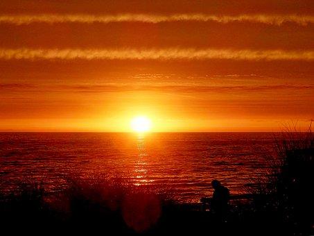 Sunset, Evening, Sun, Sea, Sunset Beach, Sunset Sky