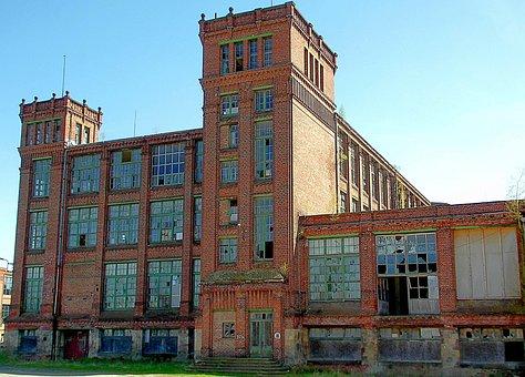 House, Building, Factory, Cotton Spinning Flöha