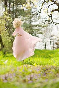 Lovely Woman, Twirling, Dancing, Woman, Happy, Female