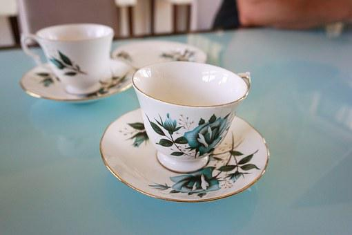 Tea, Tea Cup, Vintage, Saucer, Afternoon, Floral, China