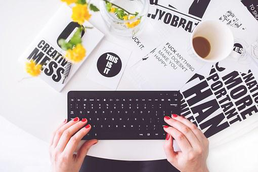 Girl, Woman, Typing, Writing, Blogger, Blogging