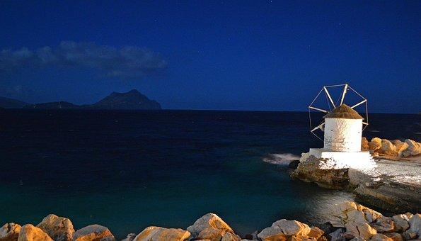 Nikouria, Test, Amorgos, Island, Greece, Windmill