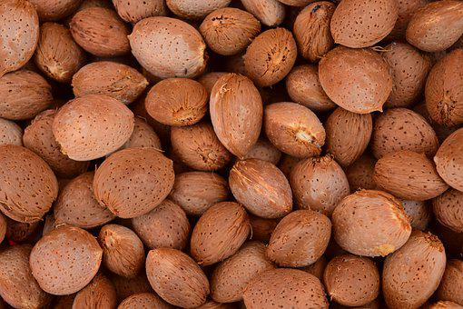 Almonds, Background, Fresh, Healthy, Fresh Almonds