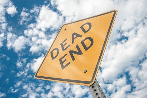 Dead End, Sign, Cul-de-sac, Hopeless, Street