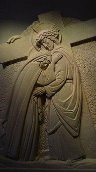 Jesus, Crucifix, Mother Mary, Holy
