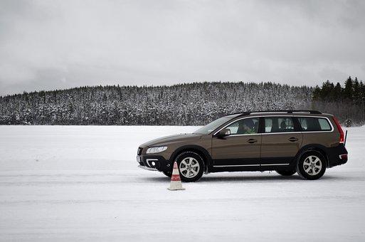 Car, Brake Test, Car Test, Run, License, Volvo