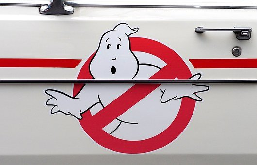 Ghostbusters, Logo, Ecto-1, Cadillac, Vehicle