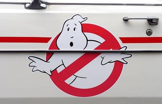 Ghostbusters, Logo, Ecto-1, Cadillac, Vehicle