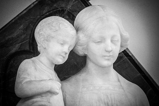 Maria, Jesus, Madonna, Mother Of God, Art Nouveau