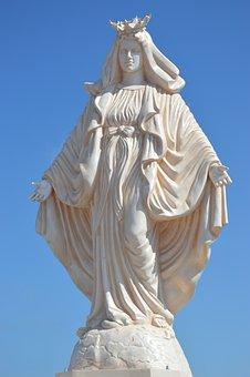 Madonna, Christen, Holy, Mother Of God, Sculpture