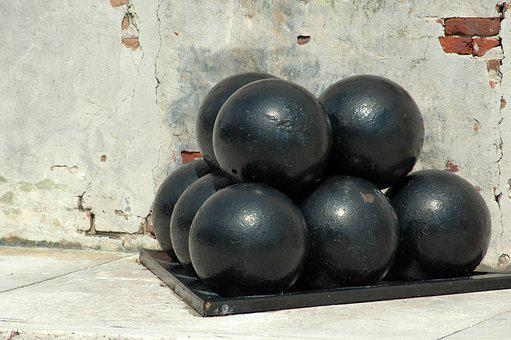 Cannon Balls, Historic, Historical, Military, Battle