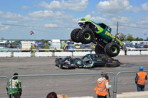 Monster Truck, Santa Pod, Stunt, Test, Drive