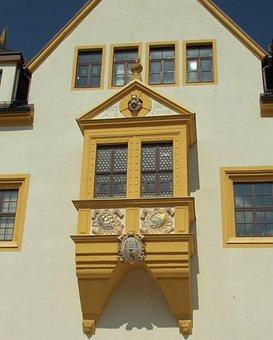 Freiberg, Mountain Town, Town Hall, Bay Window