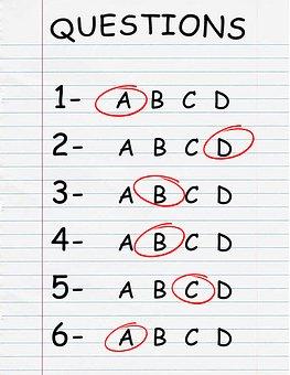 Quiz, Test, Exam, Questionnaire, Multiple Choice