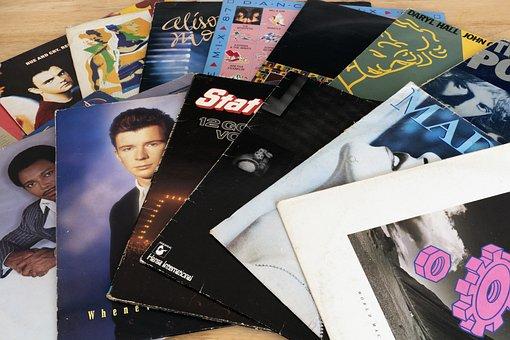 Records, Vinyl, 1980's, Vinyl Record, Music, Retro