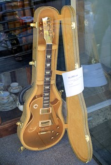 Guitar, Electric, Case, Shop, Window, Pawn, Music