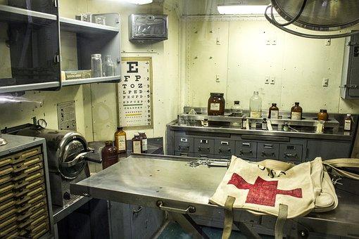 Aircraft Carrier Infirmary, Hospital, Navy, Sickbay