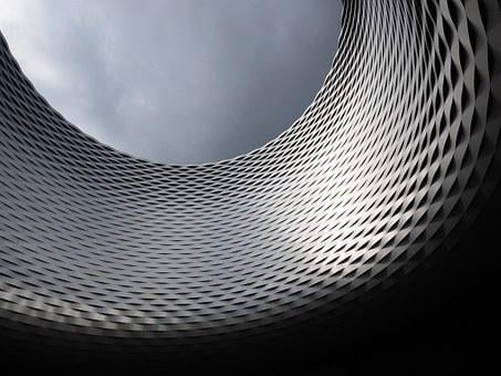 Building, Facade, Architecture, Hole, Basel, Opening