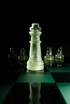 Chess, Parts, King, Pawn, Chess Board, Game, White